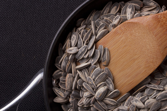 Photo of sunflower seeds under food safety and production process