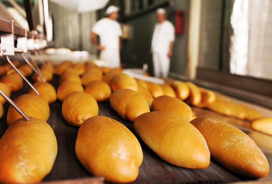 Photo of bread factory inspection for food safety and quality management